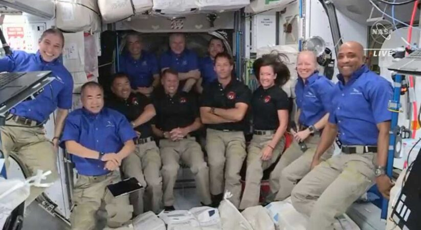 With 11 individuals on space station, space travelers get cunning with resting spots
