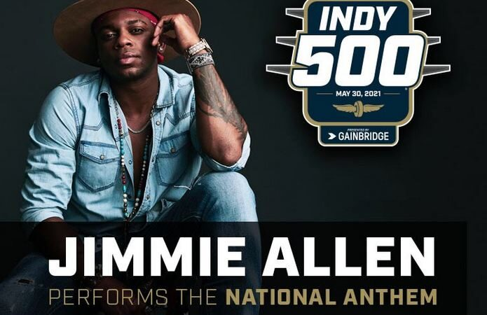 Platinum artist Jimmie Allen to perform national anthem at this year's Indy 500